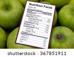 nutrition facts of raw apples... | Shutterstock . vector #367851911