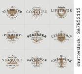 set of hipster vintage labels ... | Shutterstock .eps vector #367852115