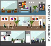 vector flat design of business... | Shutterstock .eps vector #367853501
