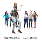 full body cool black man dancing | Shutterstock . vector #367855481