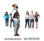 full body cool black man looking | Shutterstock . vector #367855535