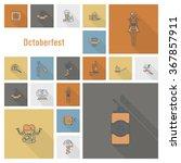 oktoberfest beer festival | Shutterstock . vector #367857911