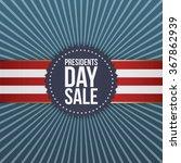 presidents day sale blue banner ... | Shutterstock .eps vector #367862939