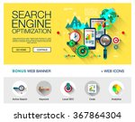 flat web page design concept of ... | Shutterstock .eps vector #367864304