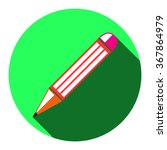 this is a flat icon of pencil