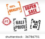 price tags and stickers  ... | Shutterstock .eps vector #36786751