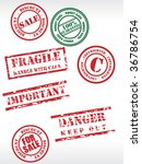 vector set off sale tag rubber... | Shutterstock .eps vector #36786754