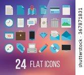 basic flat icon set for web and ...