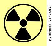 radiation round sign. flat... | Shutterstock .eps vector #367883519