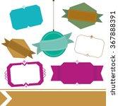 various labels | Shutterstock .eps vector #367888391