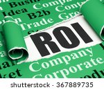 finance concept  black text roi ... | Shutterstock . vector #367889735