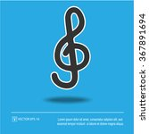 g clef icon on blue background. ... | Shutterstock .eps vector #367891694
