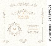set of decorative  borders ... | Shutterstock .eps vector #367899101
