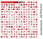 set of medicine stickers   Shutterstock .eps vector #367901414
