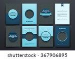 vector brochures with doodles... | Shutterstock .eps vector #367906895