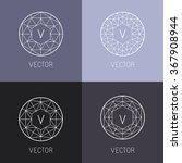 vector set of abstract jewelry...   Shutterstock .eps vector #367908944