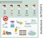 zika virus from mosquitos... | Shutterstock .eps vector #367910471