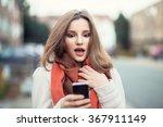 sms. closeup portrait funny... | Shutterstock . vector #367911149