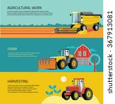 vector set of agricultural... | Shutterstock .eps vector #367913081