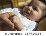 baby is holding  hand  | Shutterstock . vector #367914155