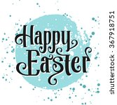 happy easter greeting card.... | Shutterstock .eps vector #367918751