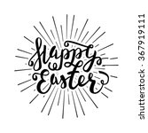 happy easter greeting card.... | Shutterstock .eps vector #367919111