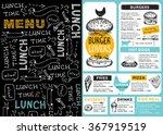 restaurant brochure vector ... | Shutterstock .eps vector #367919519