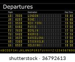 Make your own Airport Arrivals or Departures Board with spare text and numbers vector. - stock vector