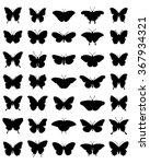 black silhouettes of... | Shutterstock .eps vector #367934321