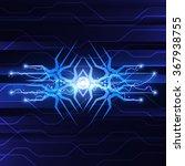 blue abstract technology... | Shutterstock .eps vector #367938755