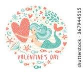 vector cartoon happy valentine...   Shutterstock .eps vector #367944515