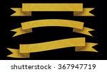 3 yellow ribbon banners for... | Shutterstock . vector #367947719