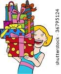 gift stack   Shutterstock . vector #36795124