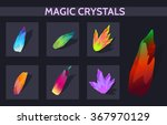 magic crystals. resource icons...