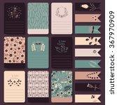 vector set of printable note... | Shutterstock .eps vector #367970909