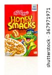 Small photo of Winneconne, WI - 26 Jan 2016: A box of Honey Smacks cereal