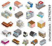 various buildings | Shutterstock .eps vector #367982969