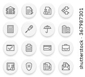 banking flat contour icons on... | Shutterstock .eps vector #367987301