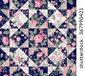 seamless patchwork pattern with ... | Shutterstock .eps vector #367990421