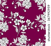 seamless pattern with peony and ... | Shutterstock .eps vector #367992959