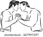 fitness men fighting... | Shutterstock .eps vector #367997297