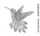 zentangle stylized hummingbird. ... | Shutterstock .eps vector #368000825