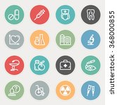 medicine flat contour icons on... | Shutterstock .eps vector #368000855