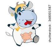 vector illustration of a cute...   Shutterstock .eps vector #368001587