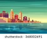 vector beautiful sunrise over... | Shutterstock .eps vector #368002691