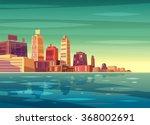 vector beautiful sunrise over... | Shutterstock .eps vector #368002691