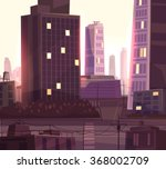 vector beautiful sunset over... | Shutterstock .eps vector #368002709