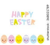 happy easter greeting card... | Shutterstock .eps vector #368021789