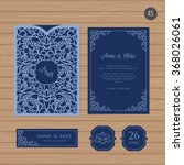 wedding invitation or greeting... | Shutterstock .eps vector #368026061
