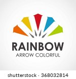 rainbow round of colorful arrow ...
